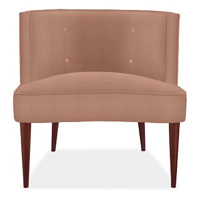 Room & Board Chloe Coral Pink Velvet Chair