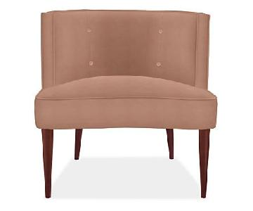 Room & Board Chloe Coral Pink Velvet Chair