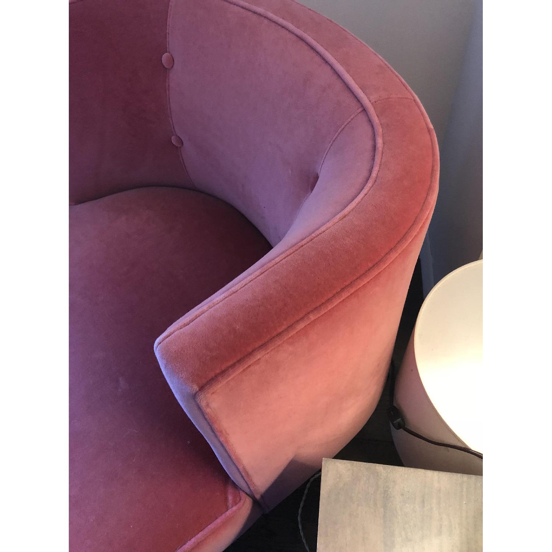 Room & Board Chloe Coral Pink Velvet Chair-2