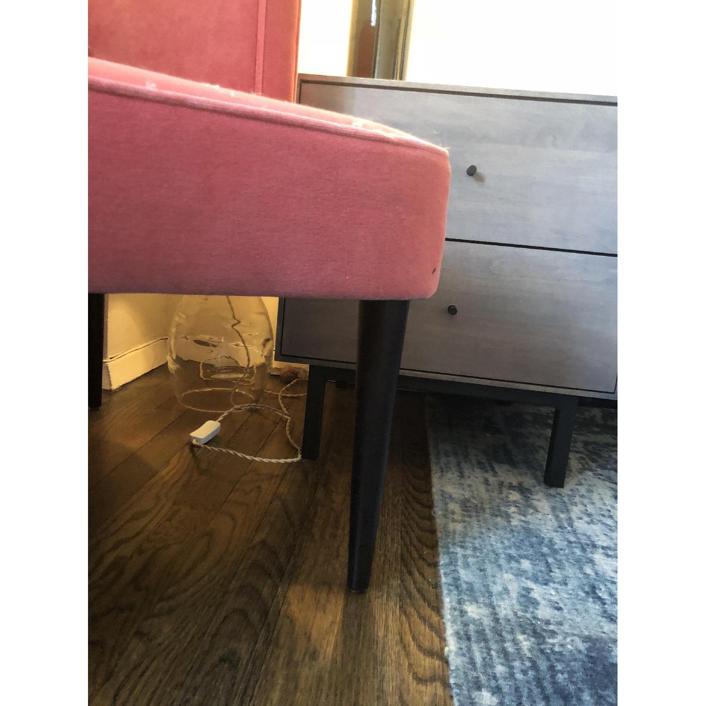Room & Board Chloe Coral Pink Velvet Chair-3