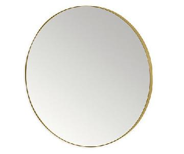 Room & Board Infinity Round Mirror in Gold