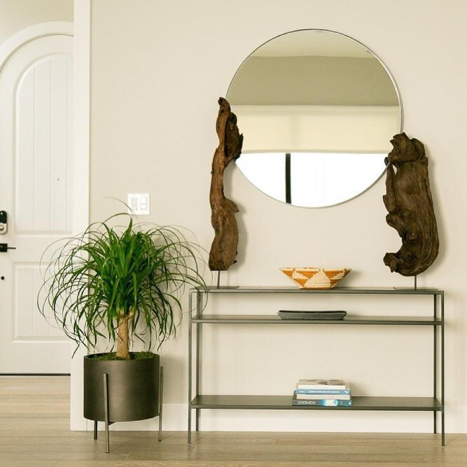 Room & Board Infinity Round Mirror in Gold-0
