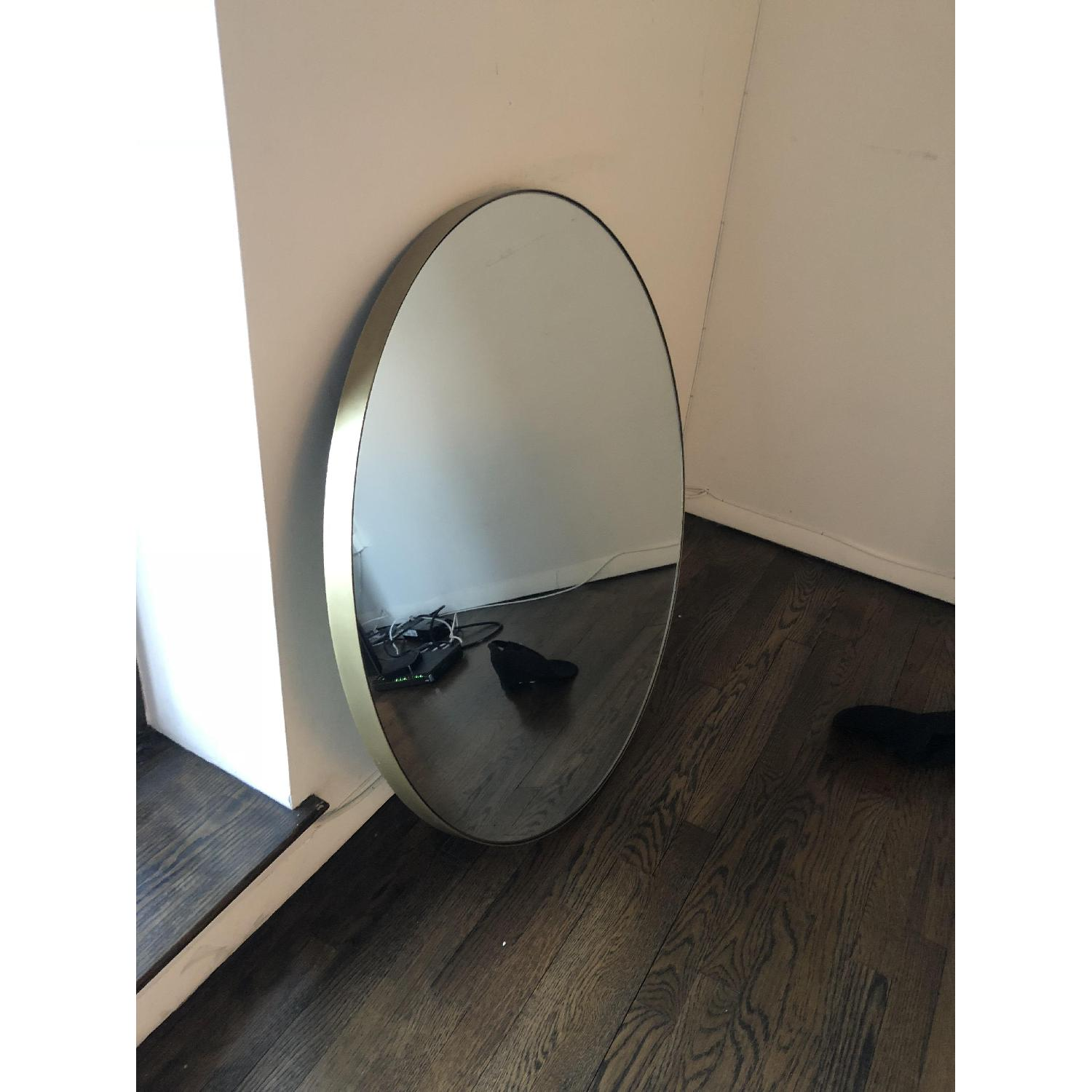 Room & Board Infinity Round Mirror in Gold-1