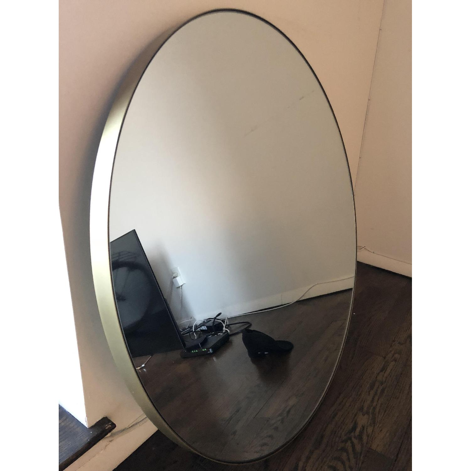 Room & Board Infinity Round Mirror in Gold-3