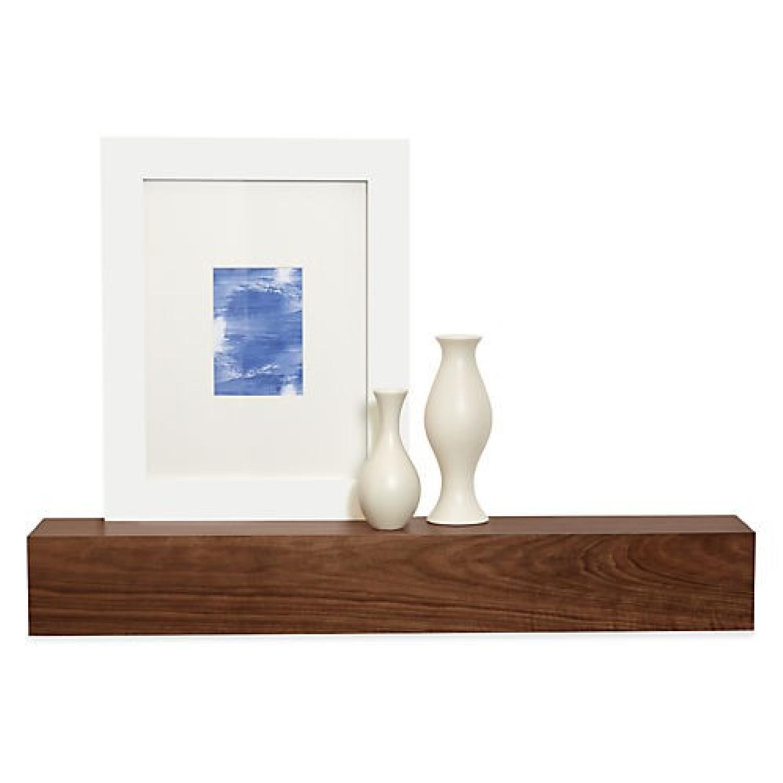 Room & Board Float Modern Box Wall Shelf in Walnut