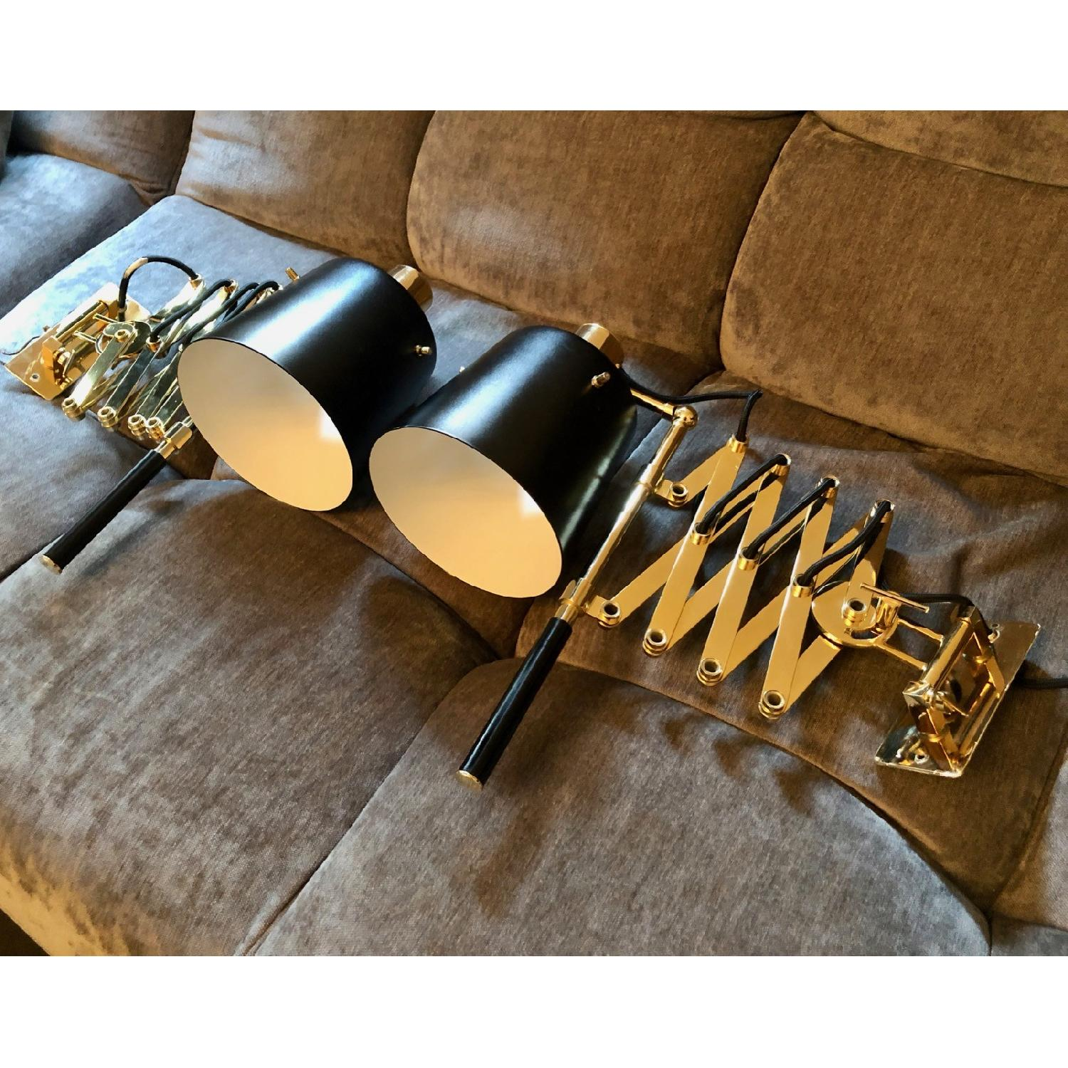 Delighttfull Pastorius Wall Lamps in Gold/Black-6