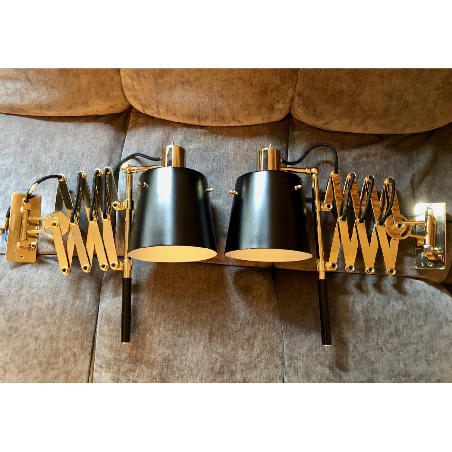 Delighttfull Pastorius Wall Lamps in Gold/Black-7