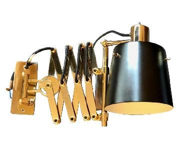 Delighttfull Pastorius Wall Lamps in Gold/Black
