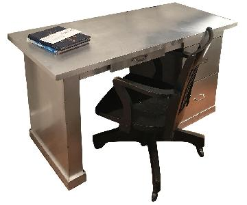 Pounded Metal Desk