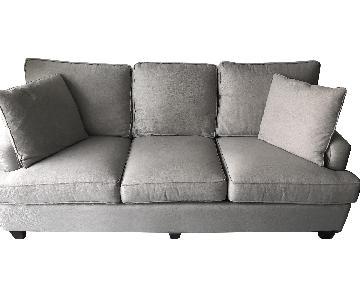 Bassett Grey Sleeper Sofa