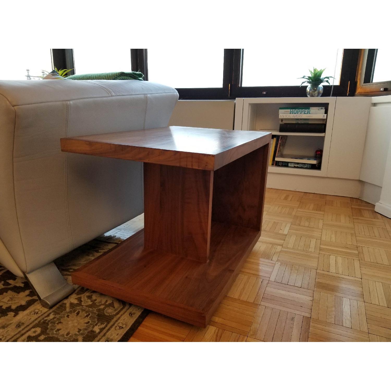 Room & Board Wood End Table in Walnut-1