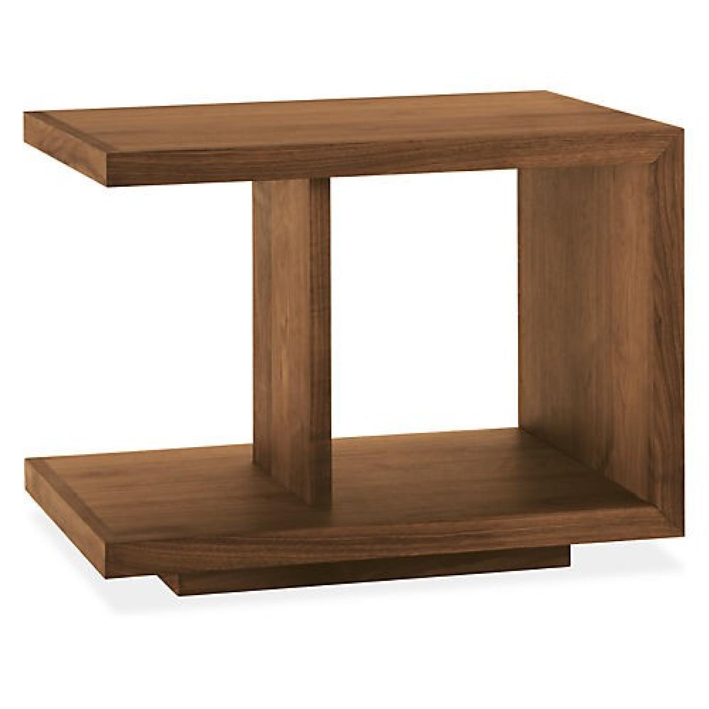 Room & Board Wood End Table in Walnut