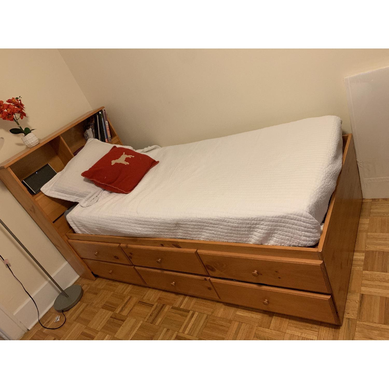 Gothic Cabinet Craft Twin Storage Bed-0