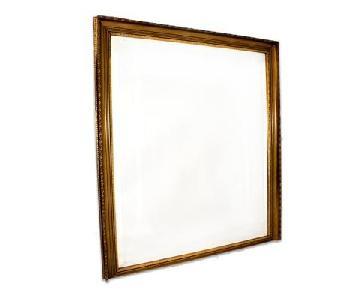Antique French Mirror w/ Gold Leaf Frame