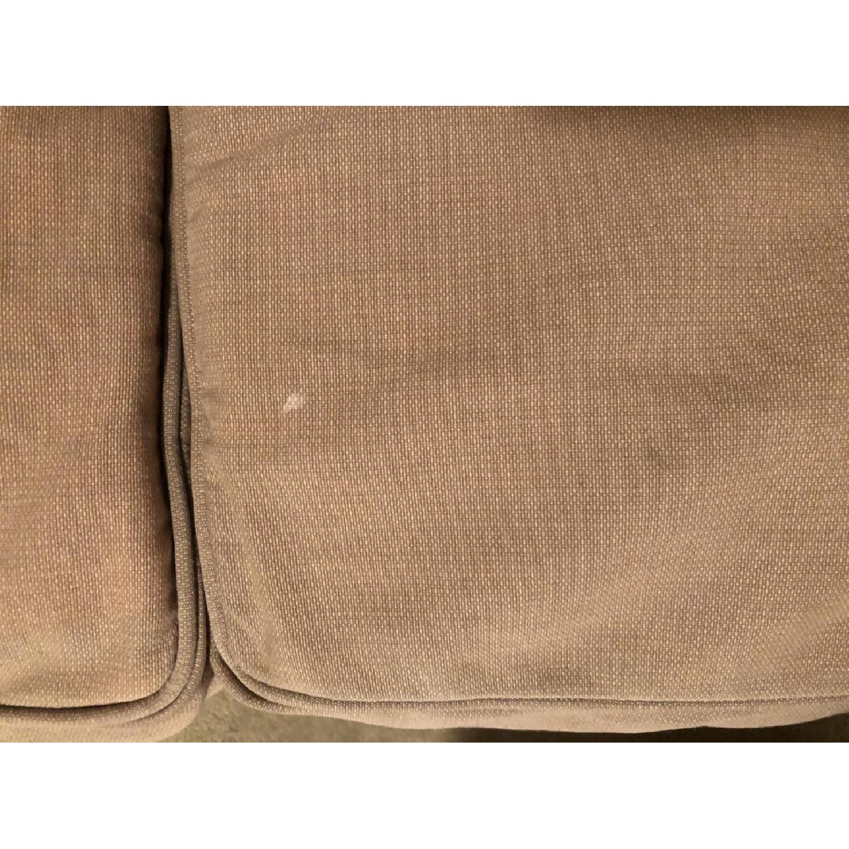 Crate & Barrel Tan Sleeper Sofa-4