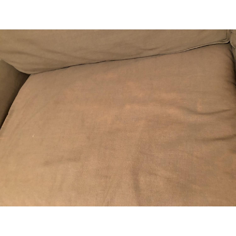 Crate & Barrel Tan Sleeper Sofa-5