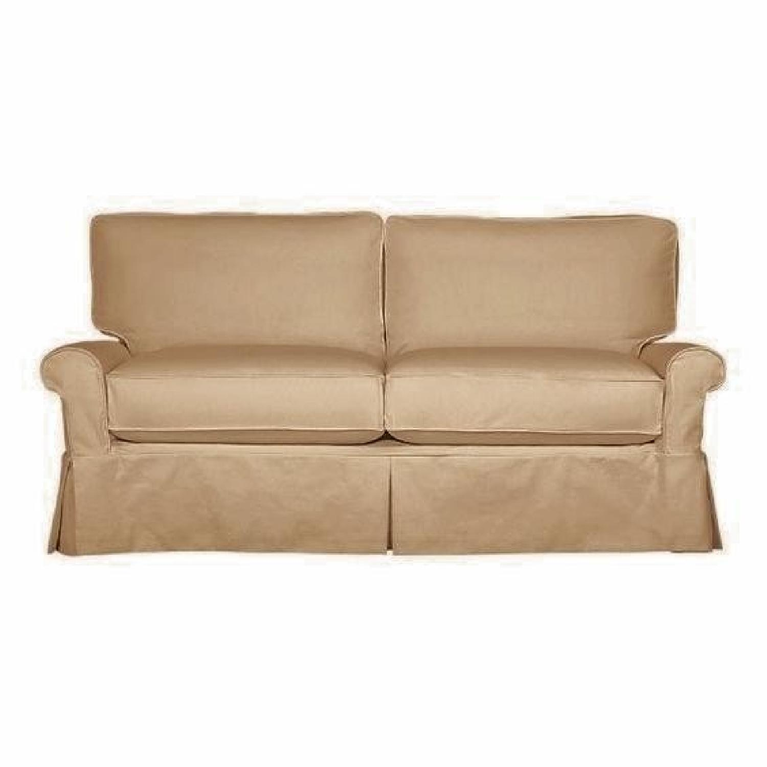 Crate & Barrel Tan Sleeper Sofa