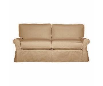 Crate & Barrel Tan Sleeper Sofa