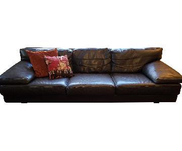 Wim and Karen Leather Sofa
