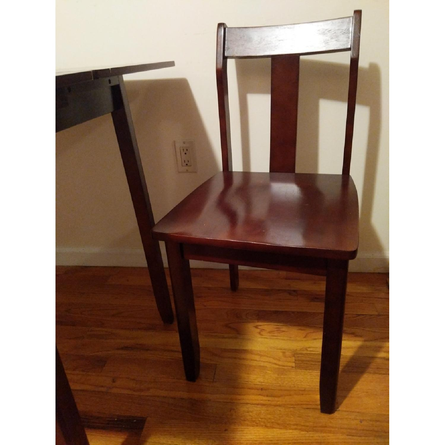 Expandable Brown Dining Table w/ 2 Chairs-3
