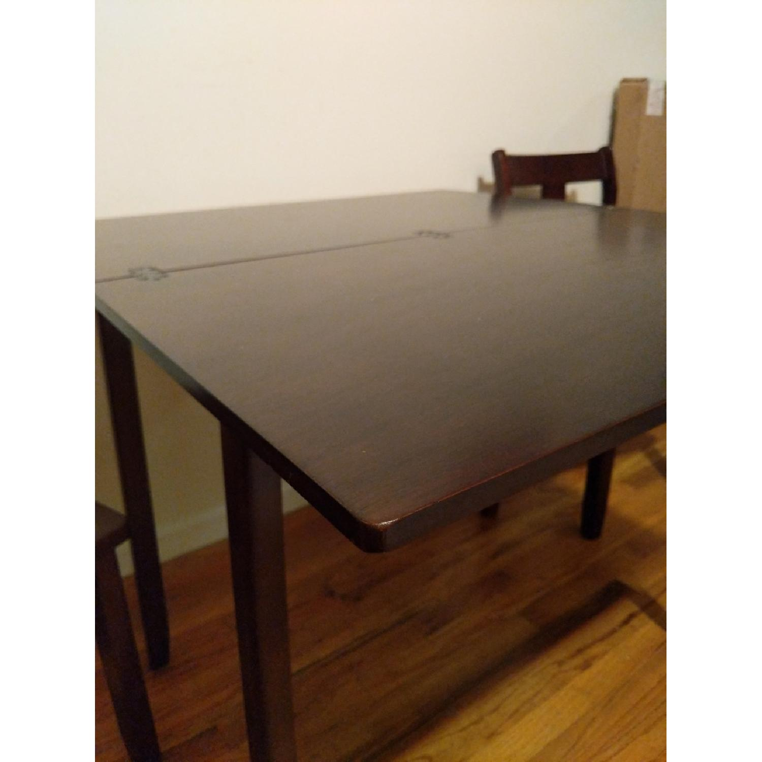 Expandable Brown Dining Table w/ 2 Chairs-6