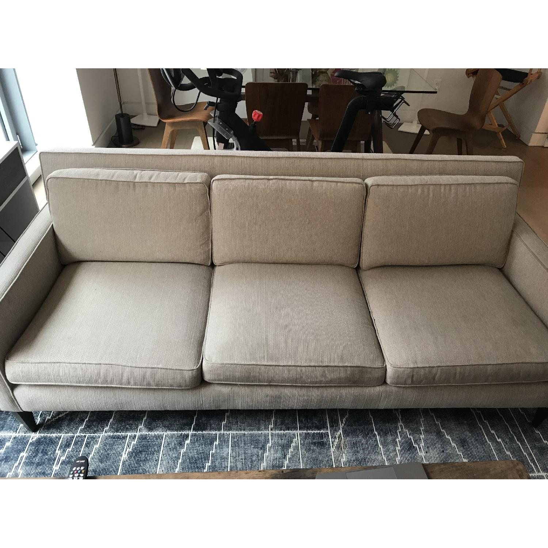 Crate & Barrel Rochelle Mid Century Modern Sofa-0