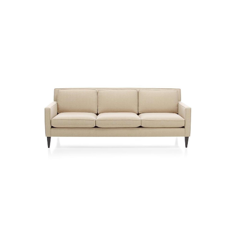 Crate & Barrel Rochelle Mid Century Modern Sofa
