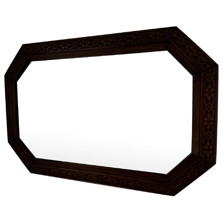Antique Oak Carved Mirror