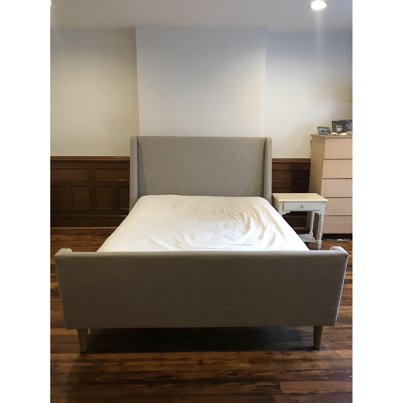 West Elm Upholstered Sleigh Bed-0