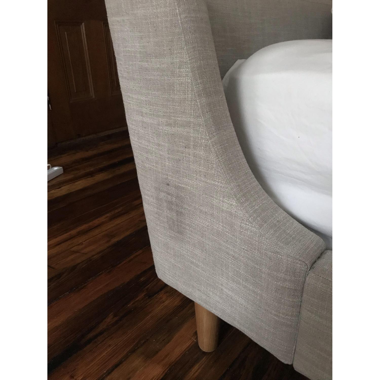 West Elm Upholstered Sleigh Bed-4