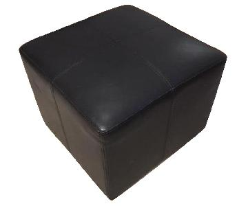 Restoration Hardware Cooper Leather Square Ottoman