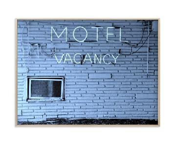Minted No Vacancy Art Print in Brass Frame