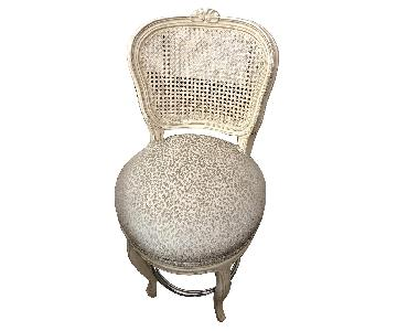 French Country Swivel Bar Stool w/ Cheetah Print