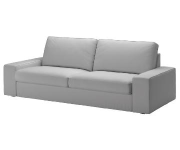 Ikea Kivik Grey Textured Sofa