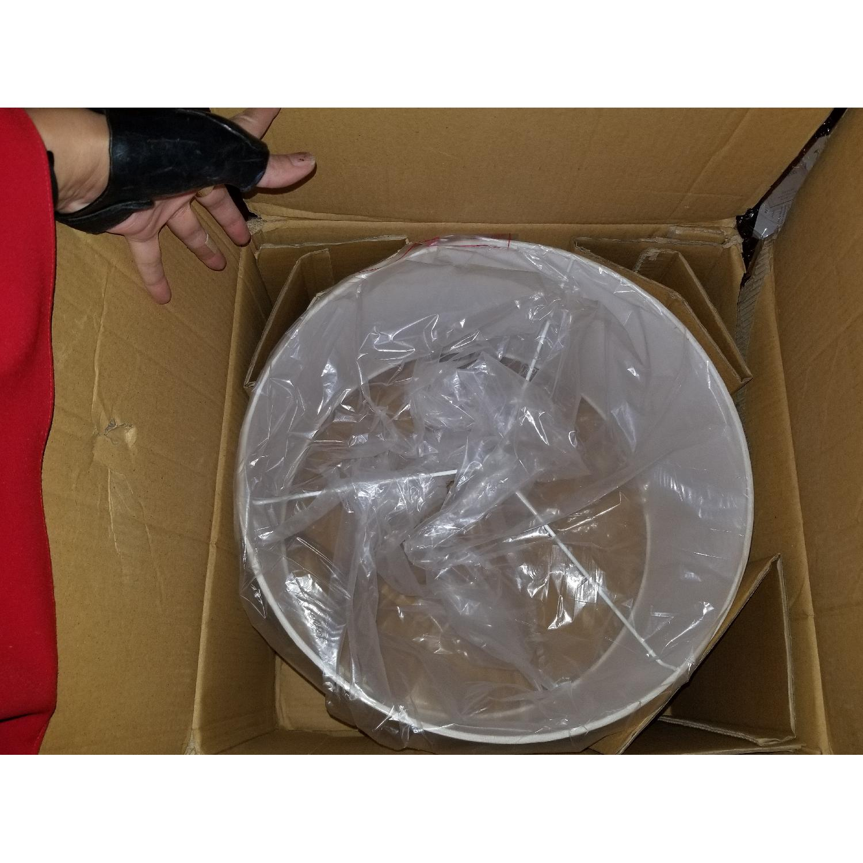 Restoration Hardware French Drum Linen Shade-4