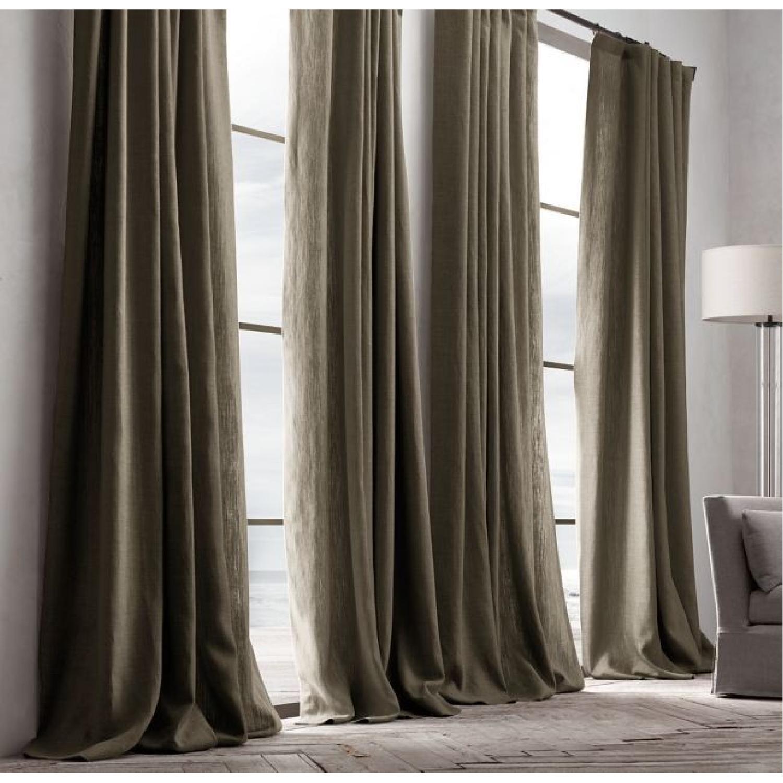 West Elm Belgian Flax Linen XL Curtain w/ Grommets-0