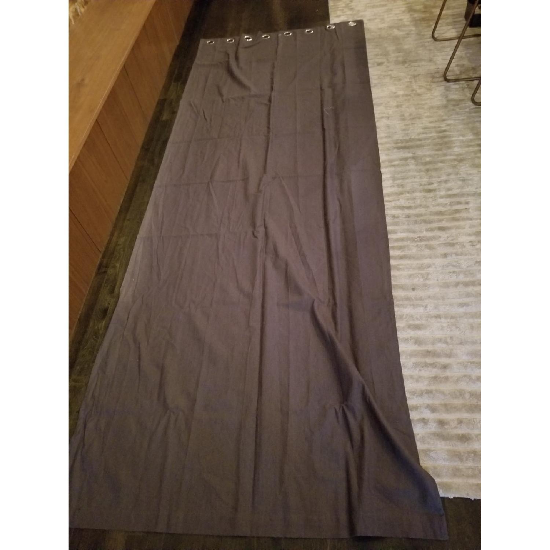 West Elm Belgian Flax Linen XL Curtain w/ Grommets-1