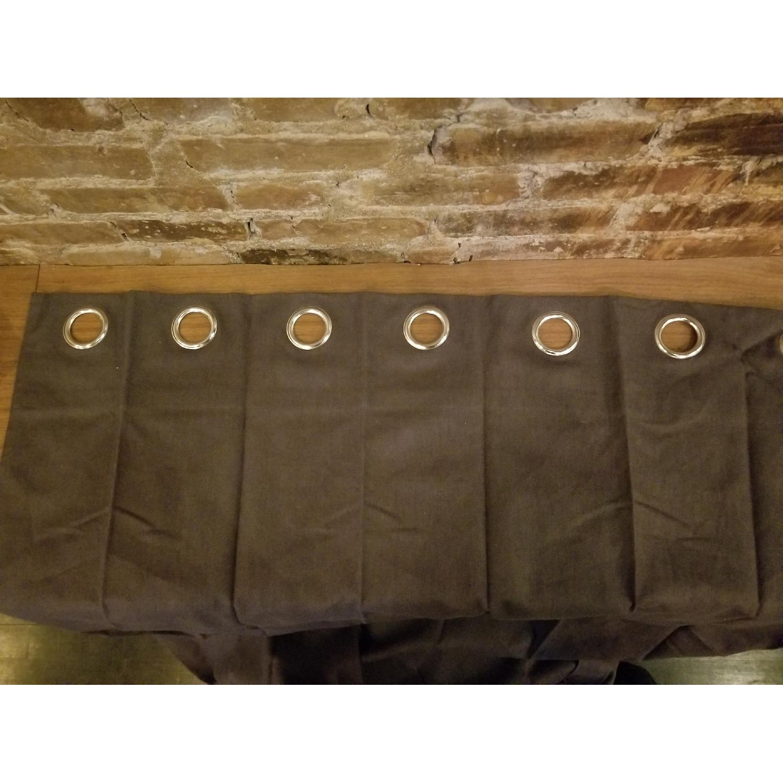 West Elm Belgian Flax Linen XL Curtain w/ Grommets-2