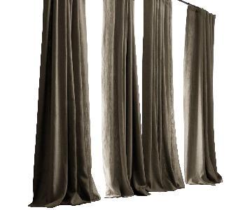 West Elm Belgian Flax Linen XL Curtain w/ Grommets