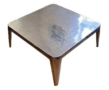 CB2 Square Metal Coffee Table