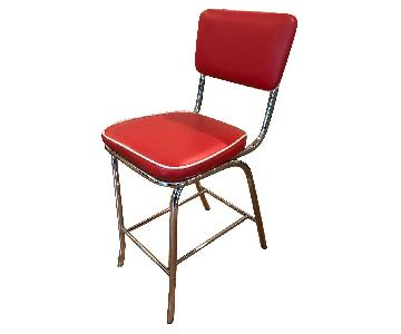 Chairs Direct Retro Red Bar Stools
