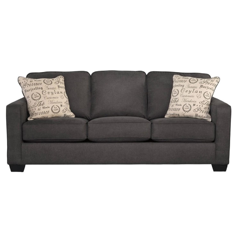 Jennifer Furniture Alenya Charcoal Sofa