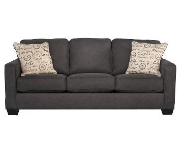 Jennifer Furniture Alenya Charcoal Sofa