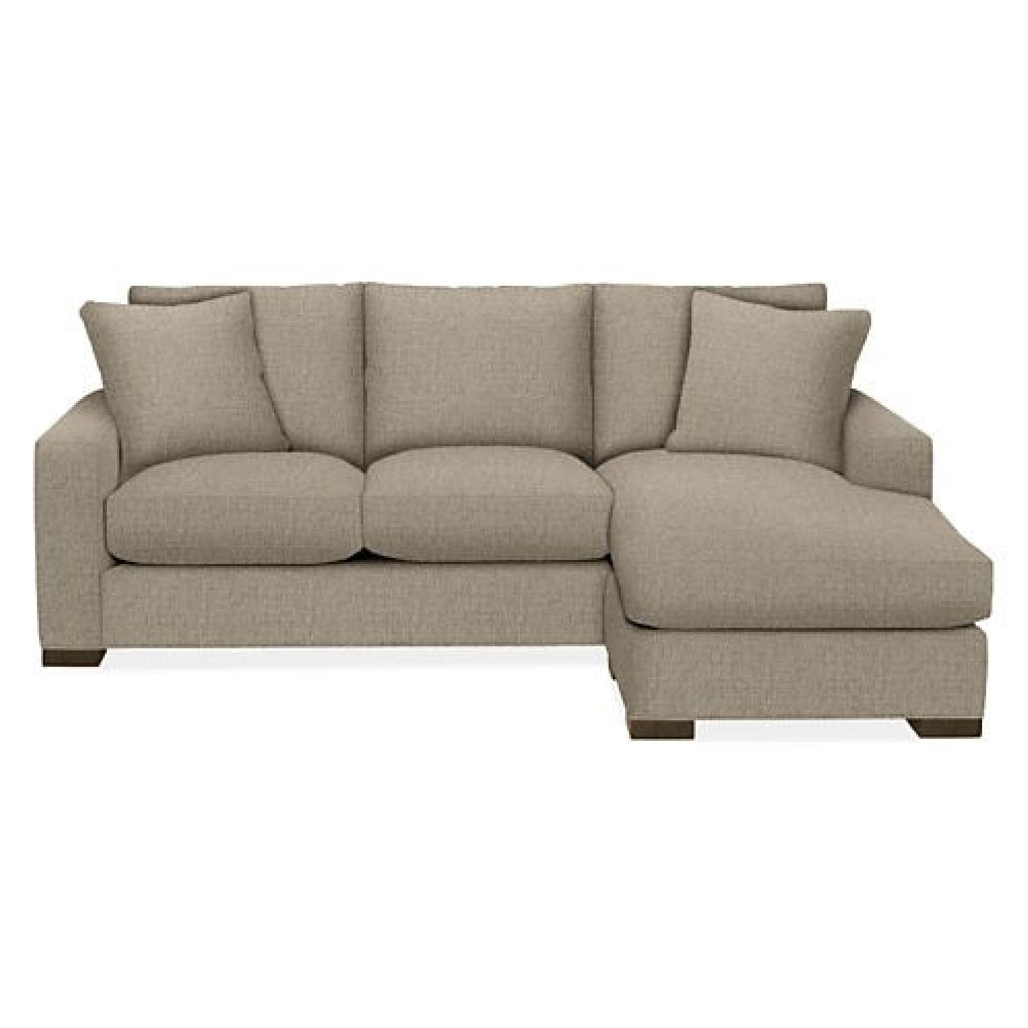 Room & Board Sectional Sofa w/ Reversible Chaise