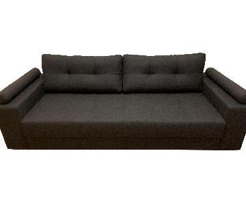 Lazzoni Broad Sleeper Sofa in Anthracite