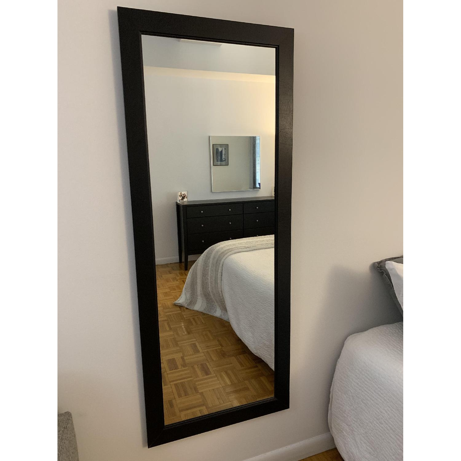 Black-Framed Full Length Mirror-0