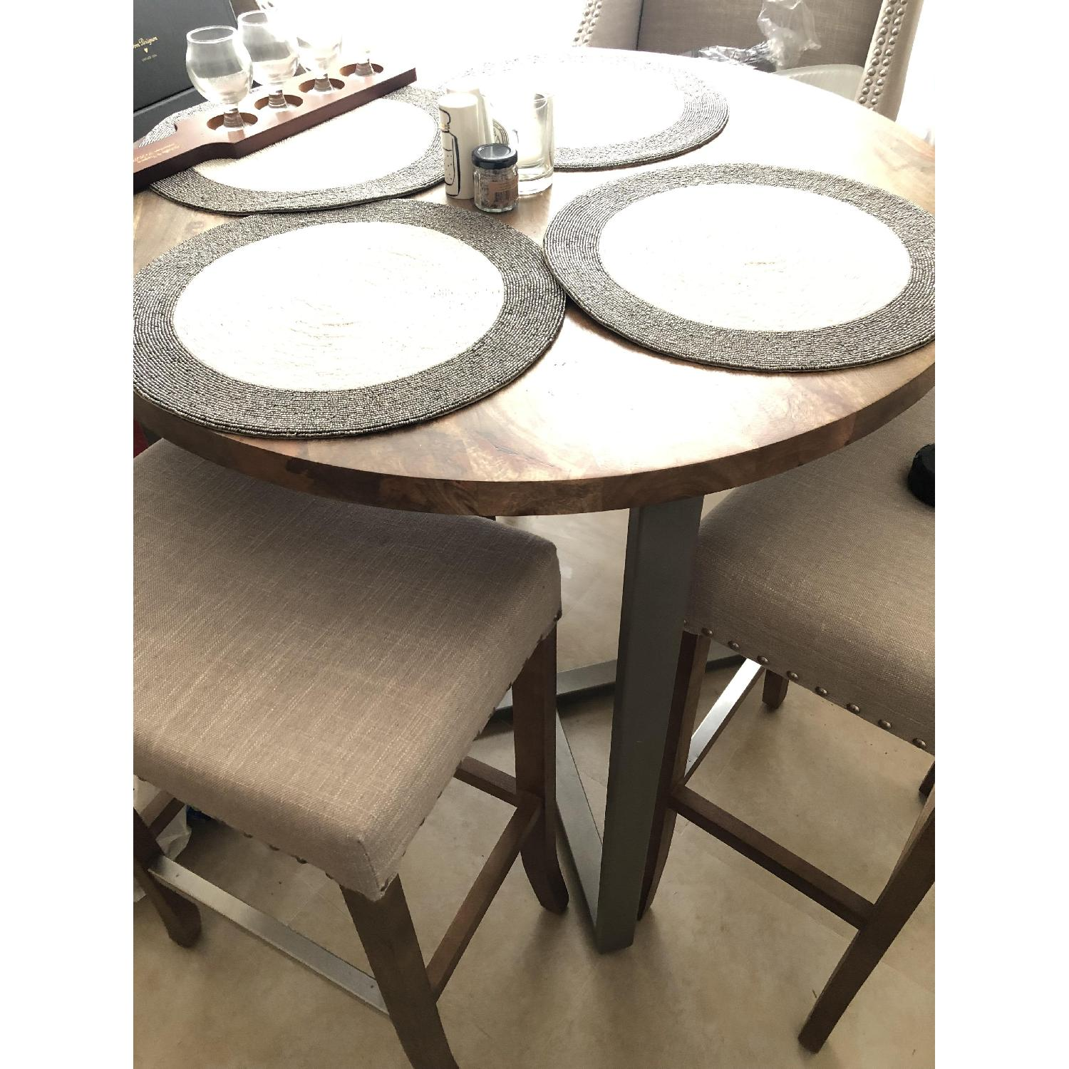 West Elm Rustic Round Counter Height Table-2