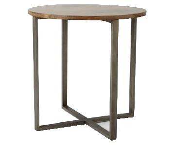 West Elm Rustic Round Counter Height Table
