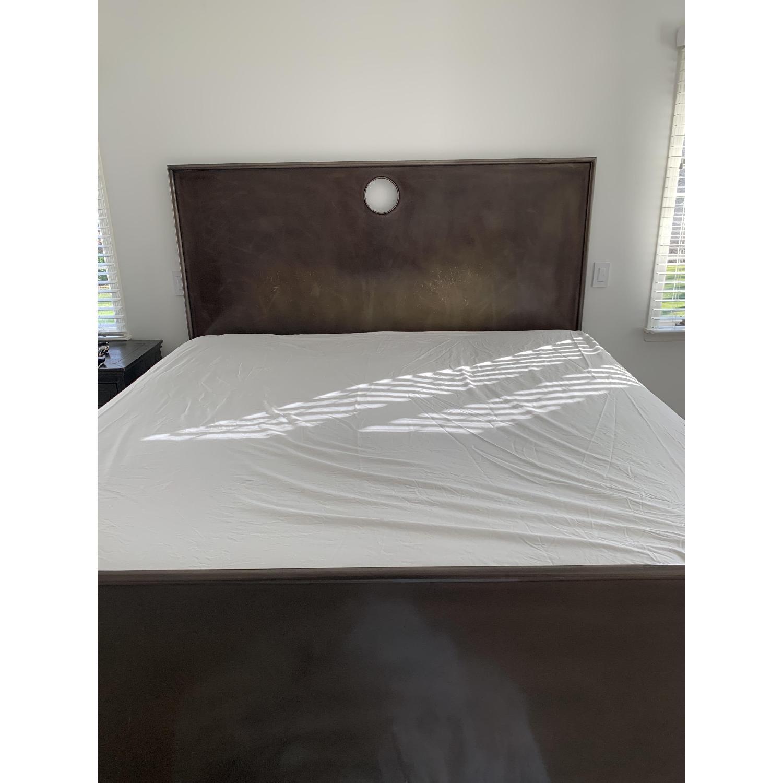 Restoration Hardware Metal Keyhole Bed-2