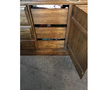 Raymour & Flanigan Pine Wood Dresser